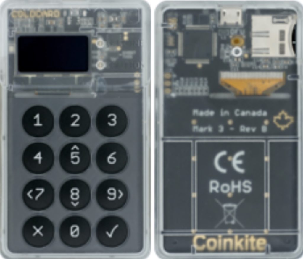 Coldcard hardware wallet
